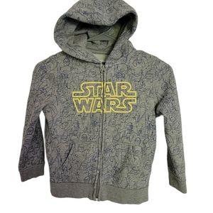 Gap kids star wars zip up hoodie